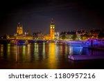 big ben in london at night | Shutterstock . vector #1180957216