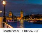 big ben in london at night | Shutterstock . vector #1180957219