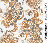 seamless paisley pattern in... | Shutterstock .eps vector #1180959220