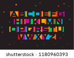 colored vector font. geometric... | Shutterstock .eps vector #1180960393