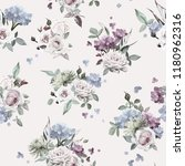 seamless floral pattern with... | Shutterstock .eps vector #1180962316
