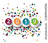 happy new year 2019 celebration ... | Shutterstock .eps vector #1180964056