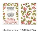 merry christmas hand drawn...   Shutterstock .eps vector #1180967776