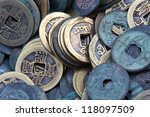Ancient Chinese Coins With Hol...