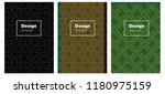 dark green vector cover for...