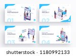 presentation slide templates or ... | Shutterstock .eps vector #1180992133