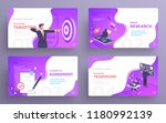 presentation slide templates or ... | Shutterstock .eps vector #1180992139