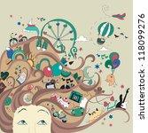 celebration life   girl with...   Shutterstock .eps vector #118099276