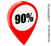 90 percent off on glossy red... | Shutterstock . vector #1180994416