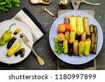 arabic cuisine  egyptian... | Shutterstock . vector #1180997899