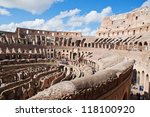 view of colosseum in rome ...   Shutterstock . vector #118100920