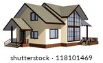 house of wooden timber. 3d... | Shutterstock . vector #118101469