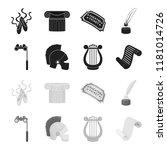 theatrical binoculars  a helmet ... | Shutterstock . vector #1181014726