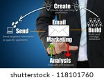 business hand touch email... | Shutterstock . vector #118101760