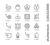 set of 16 simple line icons...   Shutterstock .eps vector #1181023000