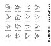 set of 16 simple line icons... | Shutterstock .eps vector #1181024383