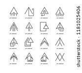 set of 16 simple line icons... | Shutterstock .eps vector #1181025406