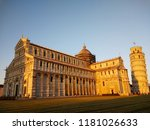 sunset at piazza del duomo ... | Shutterstock . vector #1181026633