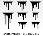 Stock vector dripping liquid paint dripping paint flows current paint stains current drops current inks 1181029519