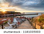 Sunset Over Whitby On The Nort...