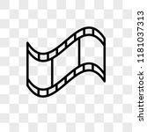 film strip vector icon isolated ...   Shutterstock .eps vector #1181037313
