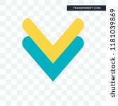 down arrow vector icon isolated ... | Shutterstock .eps vector #1181039869