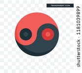yin yang vector icon isolated... | Shutterstock .eps vector #1181039899
