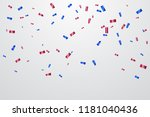 red and blue confetti isolated... | Shutterstock .eps vector #1181040436