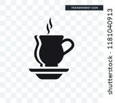 warm cup and plate vector icon...   Shutterstock .eps vector #1181040913