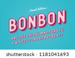 vector sweet candy font design  ... | Shutterstock .eps vector #1181041693