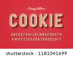vector sweet cookie font design ... | Shutterstock .eps vector #1181041699