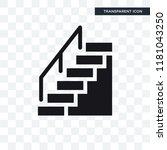 stairs with handle vector icon... | Shutterstock .eps vector #1181043250