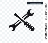 screwdriver and doble wrench... | Shutterstock .eps vector #1181043280