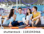 a company of good looking...   Shutterstock . vector #1181043466
