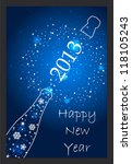 new year 2013 card   Shutterstock . vector #118105243