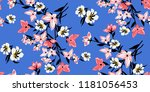 seamless floral pattern in... | Shutterstock .eps vector #1181056453