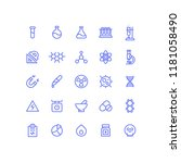 outline chemistry science icons | Shutterstock .eps vector #1181058490