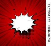 empty comic text speech bubble. ... | Shutterstock .eps vector #1181061766