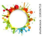 dialog balloons with color blobs | Shutterstock . vector #118106713