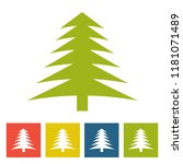 spruce. new year icon. vector... | Shutterstock .eps vector #1181071489