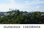 seaside town on top of the... | Shutterstock . vector #1181084656