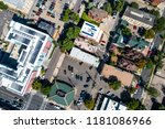 straight down drone angle above ... | Shutterstock . vector #1181086966