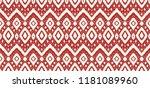 ikat seamless pattern. vector... | Shutterstock .eps vector #1181089960