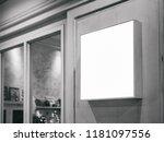 signboard shop mock up square... | Shutterstock . vector #1181097556