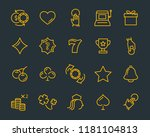 casino icons set | Shutterstock .eps vector #1181104813