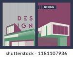 architecture conceptual... | Shutterstock .eps vector #1181107936