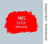 80  special offer sign over art ... | Shutterstock .eps vector #1181123413