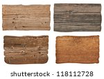 collection of various  empty... | Shutterstock . vector #118112728