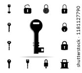 key icon. lock and keys icons... | Shutterstock .eps vector #1181127790
