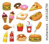 set of traditional food. let's... | Shutterstock .eps vector #1181128750